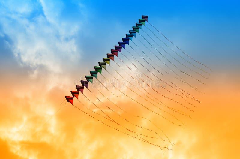 伯克利节日风筝风筝天空 免版税图库摄影