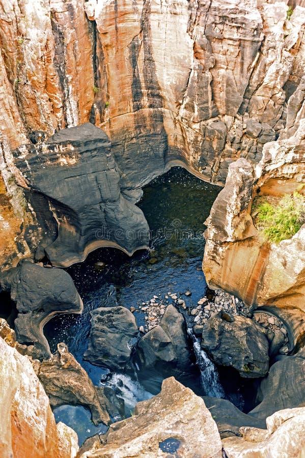 伯克运气坑洼在Ehlanzeni,南非 库存图片