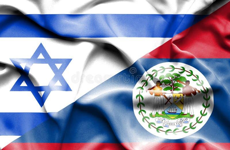 伯利兹和以色列的挥动的旗子 皇族释放例证