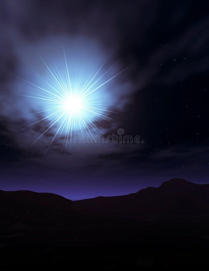 伯利恒星形 向量例证