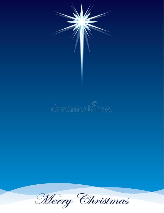 伯利恒背景模板圣诞快乐星  库存例证