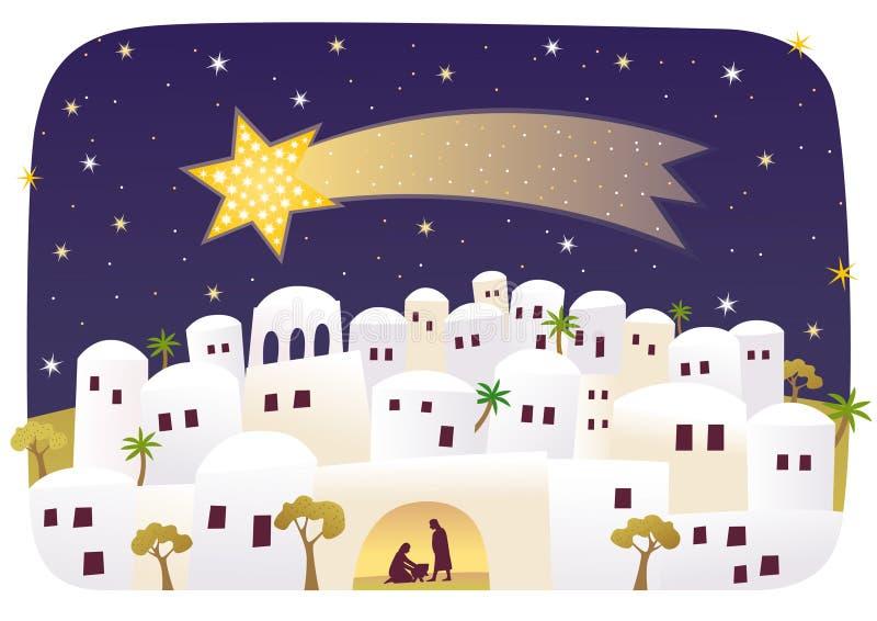 伯利恒诞生耶稣 皇族释放例证
