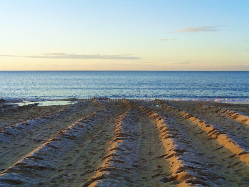 伯恩茅斯海滩-英国 图库摄影