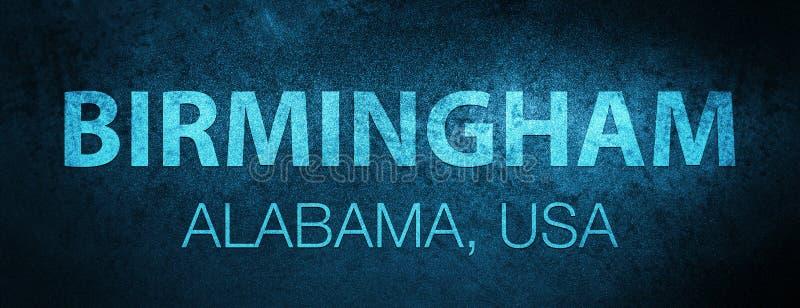 伯明翰 alberio 美国特别蓝色横幅背景 皇族释放例证