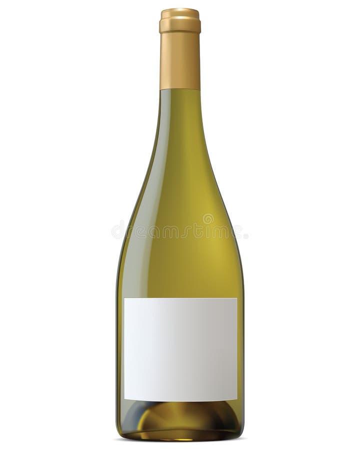 伯根地有空白的标签的酒瓶 库存例证