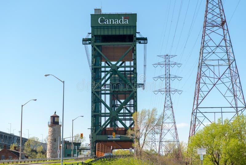 伯灵屯运河升降吊桥,安大略加拿大 免版税图库摄影