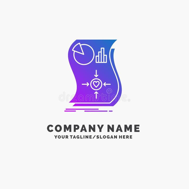 估计,爱,关系,反应,敏感紫色企业商标模板 r 向量例证