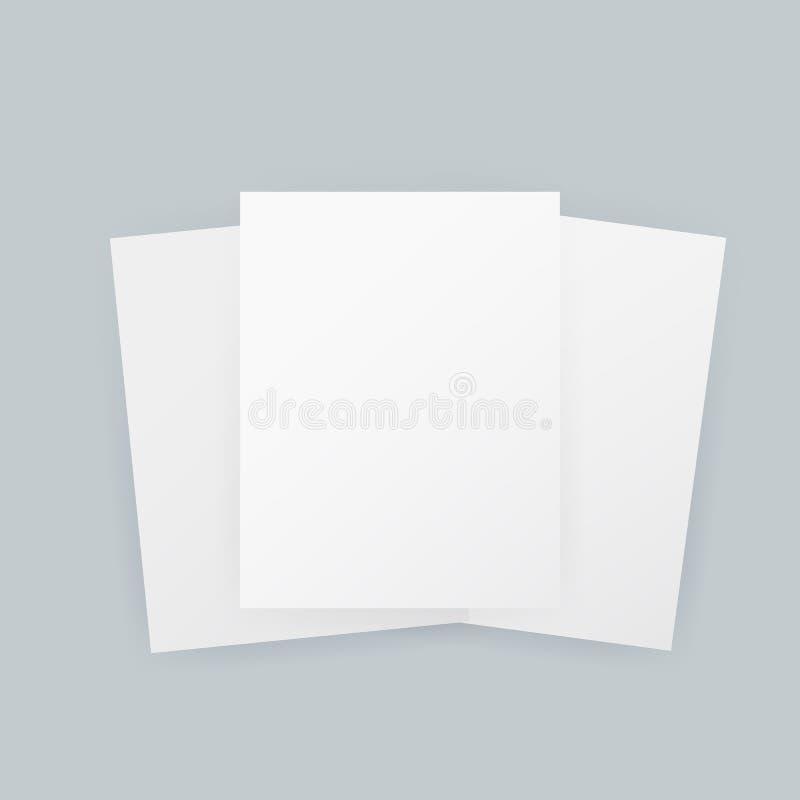 A4估量了传染媒介框架海报白纸大模型 r 库存例证