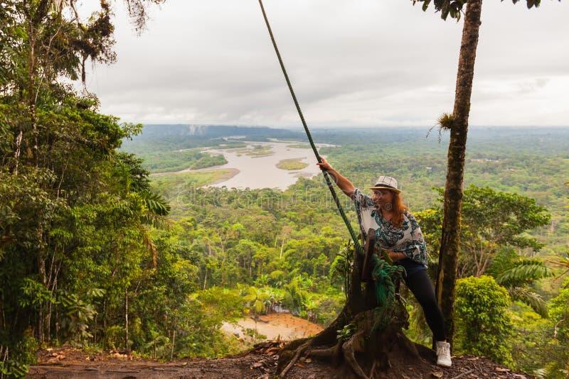从似亚马逊密林的摇摆 库存图片