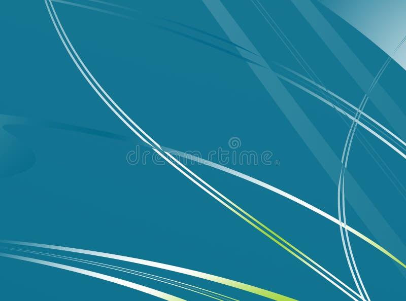 类似草刀片的简单的蓝绿色/小野鸭分数维背景 向量例证