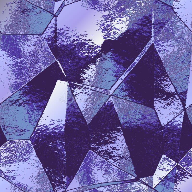 类似被折叠的金属箔的抽象多角形掠过的背景 库存例证