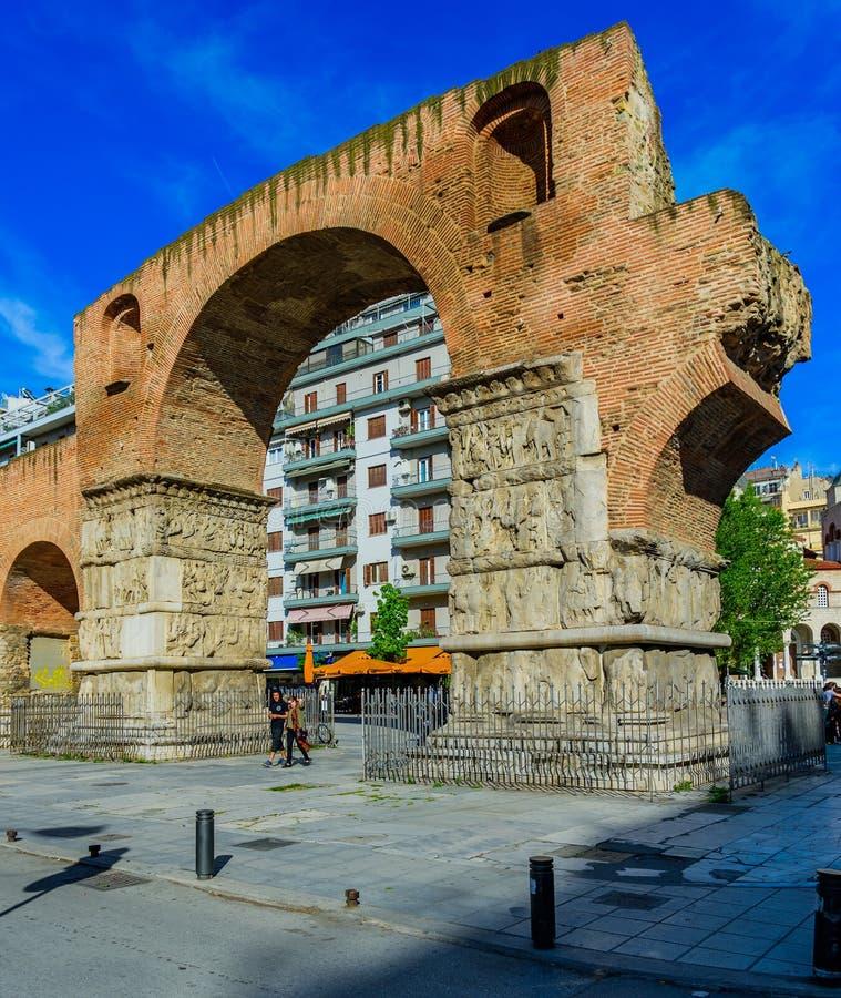 伽列里乌斯,塞萨罗尼基曲拱  免版税库存照片