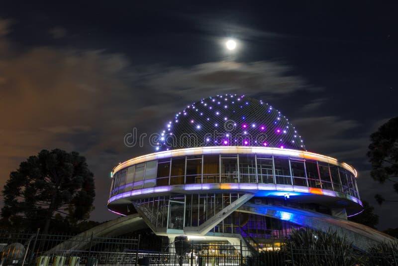 伽利略・伽利莱天文馆的球形建筑学在布宜诺斯艾利斯,阿根廷 图库摄影
