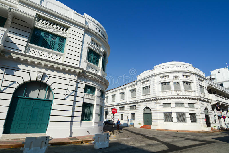 位于乔治城的老大厦,马来西亚 库存图片