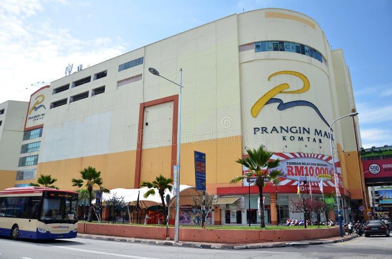 位于乔治城的Prangin购物中心,槟榔岛 库存图片