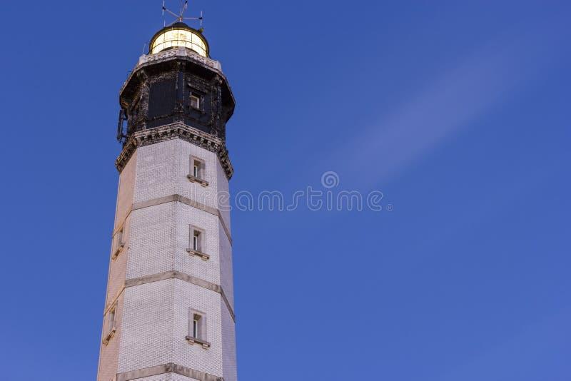位于加来街道的加来灯塔在法国 库存图片