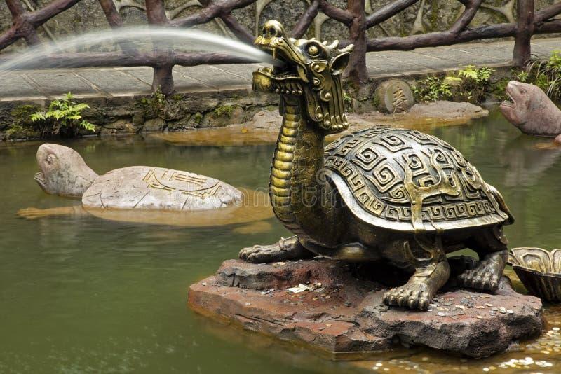 位于张家界的乌龟喷泉,匈奴 免版税图库摄影