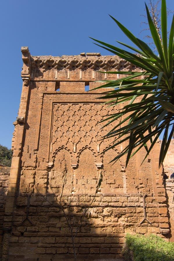 位于拉巴特的中世纪被加强的回教大墓地 库存照片