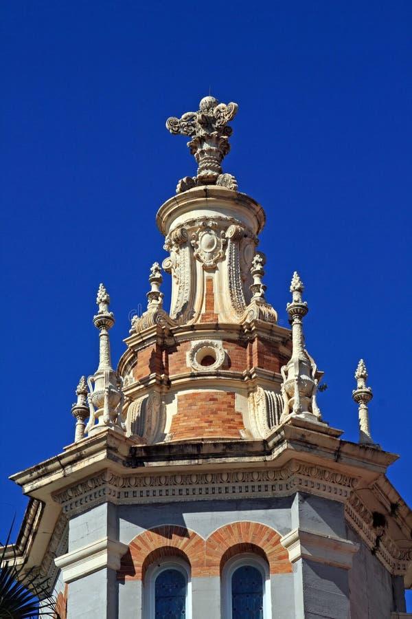 位于有历史的圣奥斯丁的美丽的教会 库存照片
