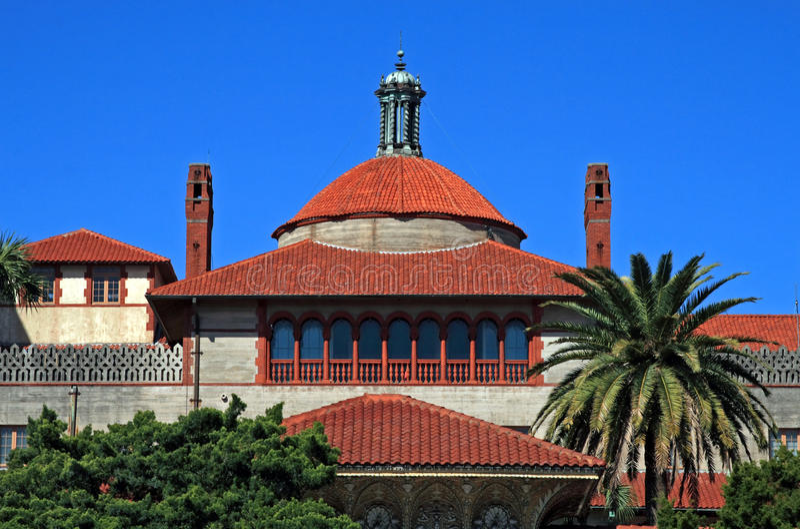 位于有历史的圣奥斯丁的Flagler学院佛罗里达 库存图片