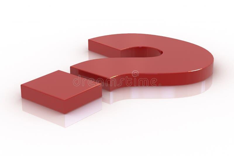 位于的标记问题红色 向量例证