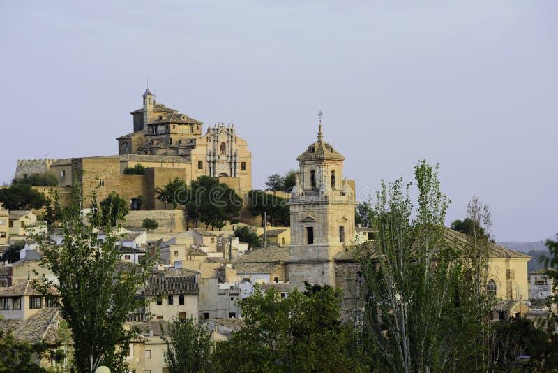位于穆尔西亚的卡拉瓦卡德拉克鲁斯镇看法西班牙 免版税库存照片
