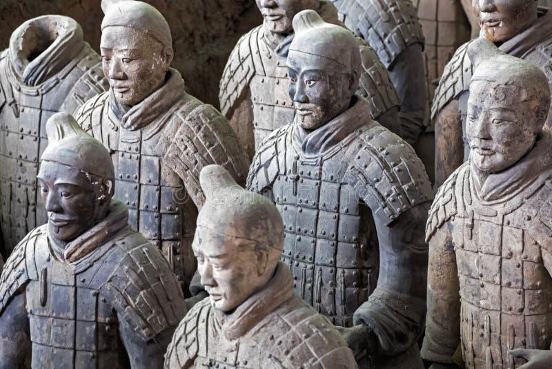 位于羡的举世闻名的秦始皇兵马俑中国 库存照片