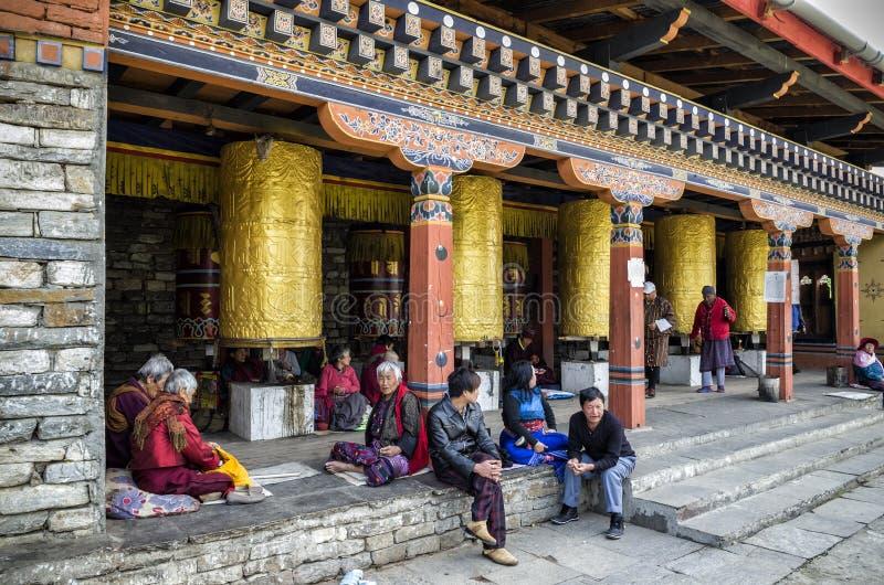 位于廷布的全国纪念Chorten,不丹首都 免版税库存照片