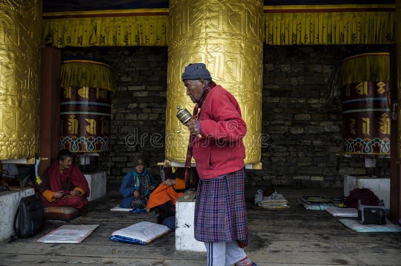 位于廷布的全国纪念Chorten,不丹 免版税库存照片
