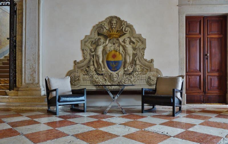 位于Palazzo的阿门洲运河重创的旅馆Papadopoli在威尼斯 库存图片