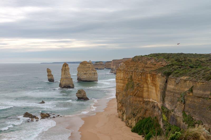 12位传道者,大洋路,维多利亚澳大利亚2017年10月 免版税库存图片