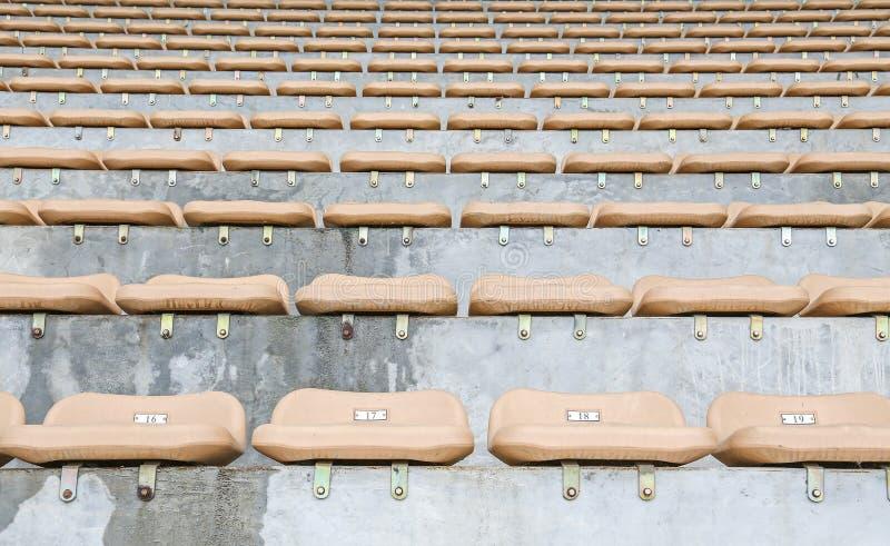 位子在体育场内 免版税库存照片