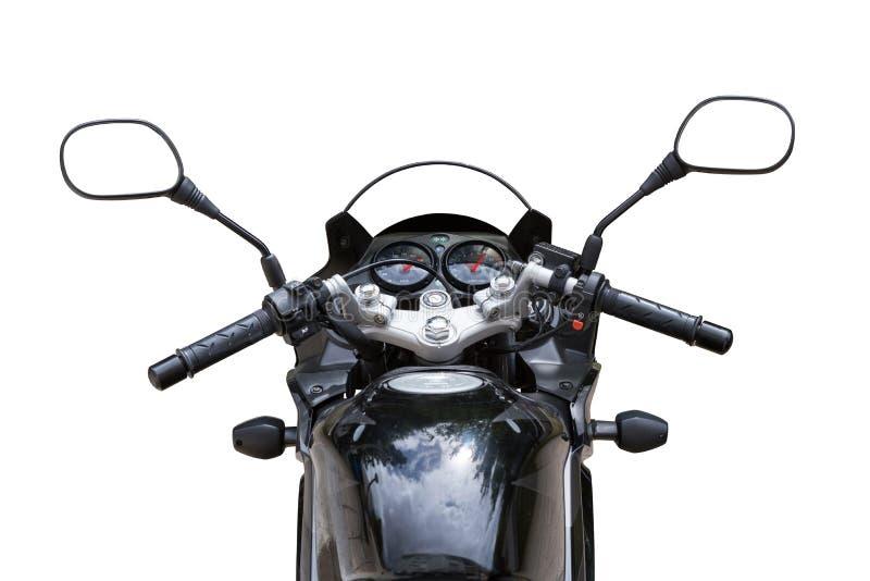 从位子的摩托车视图 库存图片