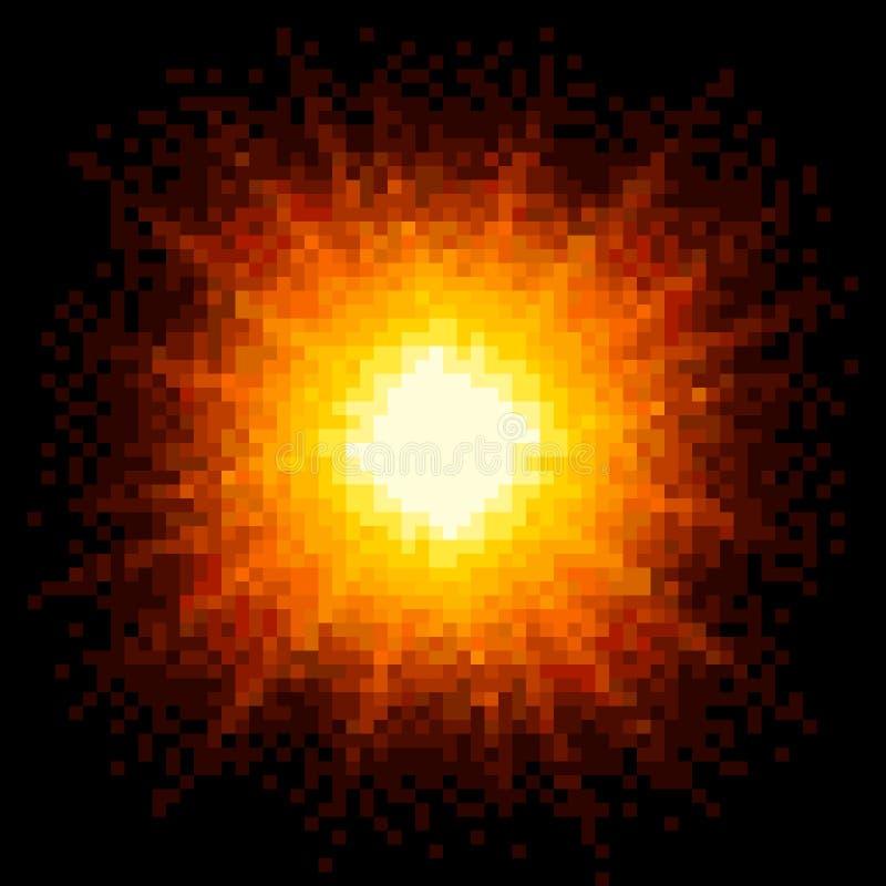 8位映象点艺术火热的爆炸 EPS8传染媒介 库存例证
