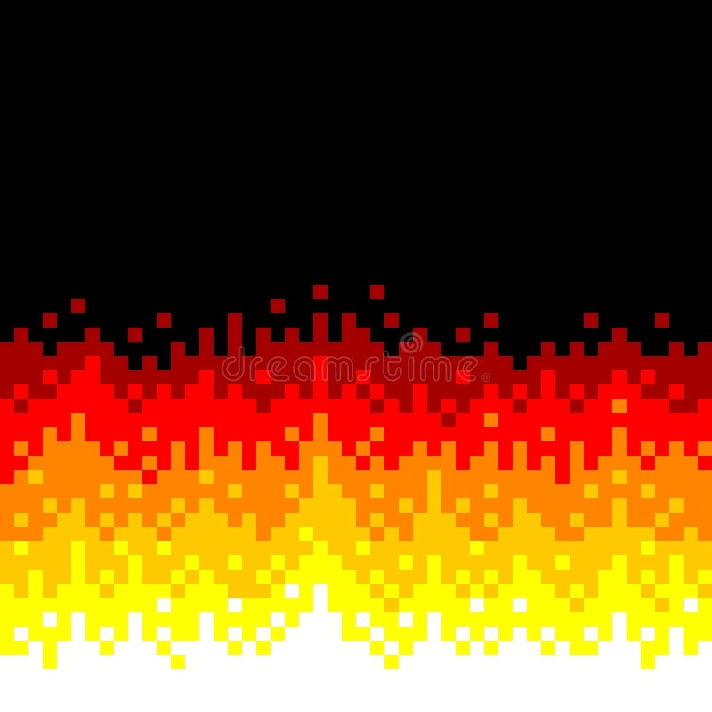8位映象点艺术火背景 向量例证