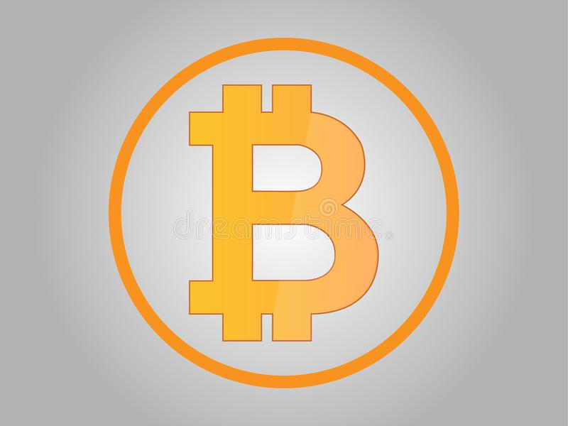 位硬币、位硬币象、真正金钱、blockchain和财务 库存照片