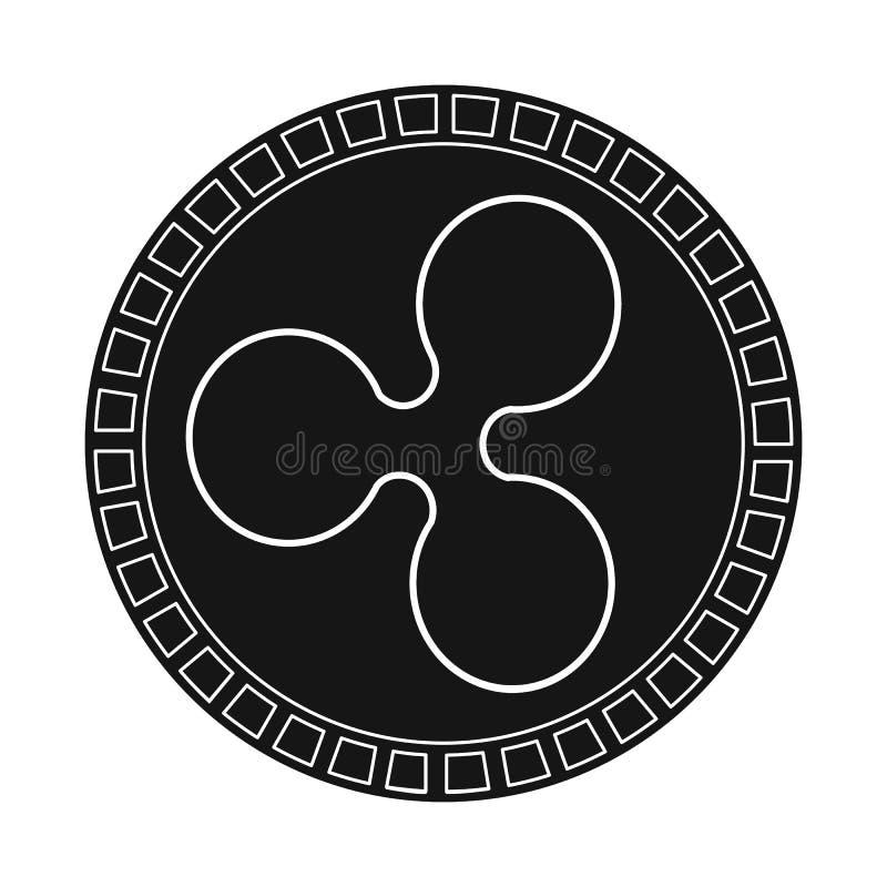 位硬币和投资标志的传染媒介例证 设置网的位硬币和象征股票简名 皇族释放例证