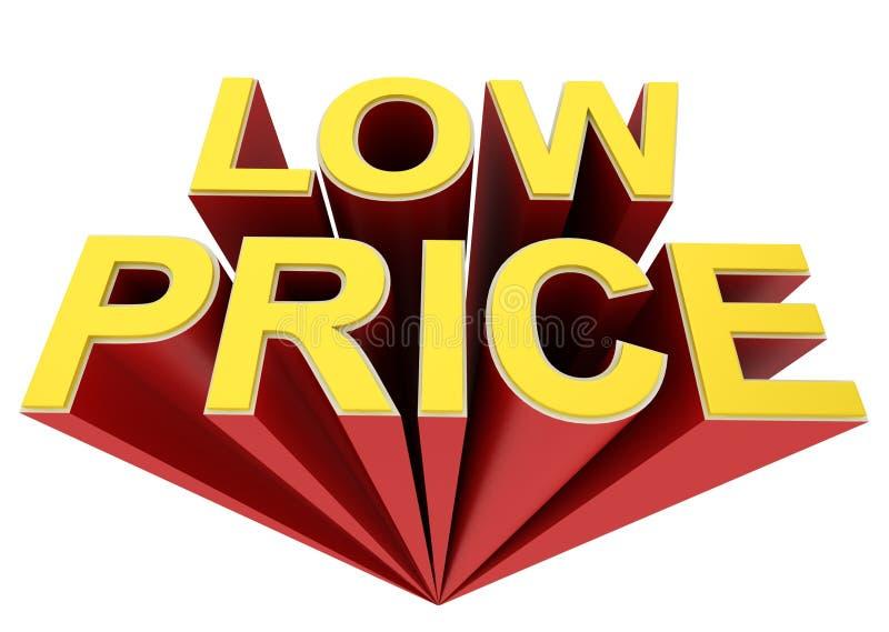 低价概念 向量例证