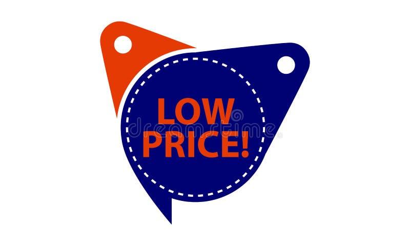 低价被隔绝的标记模板 向量例证