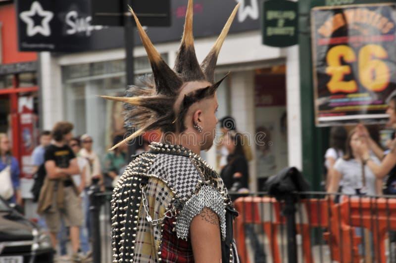 低劣的头发时尚,Camdem镇,伦敦,英国 免版税库存照片