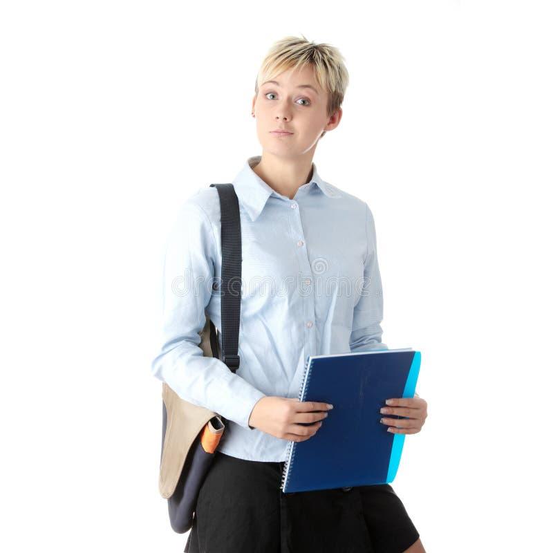 低劣的学员妇女年轻人 免版税图库摄影
