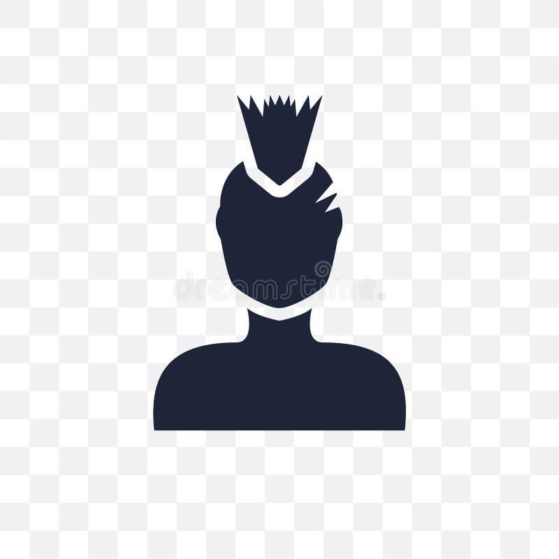 低劣的面孔透明象 从人的低劣的面孔标志设计 向量例证