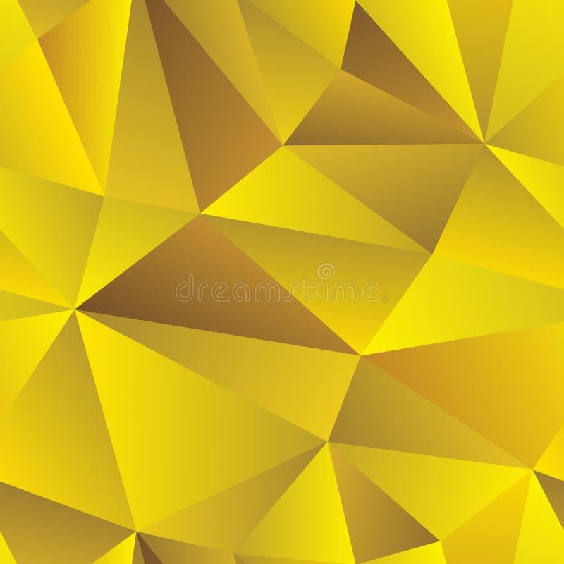 低多三角金黄无缝的传染媒介背景 向量例证