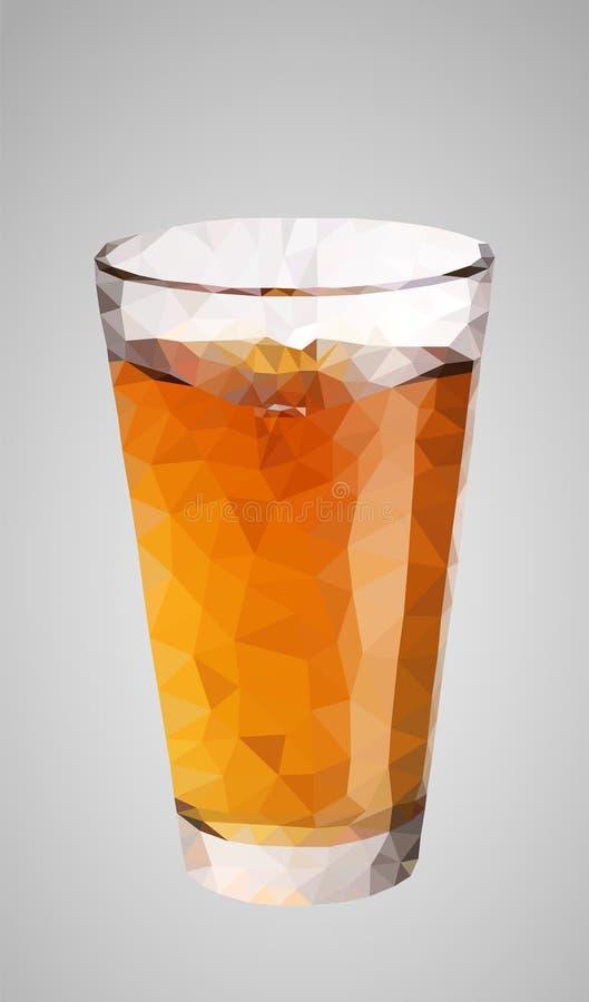 低多杯汁液/啤酒 适用于商标、背景、网站、广告等等 库存例证
