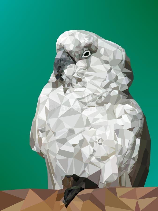 低多白色鹦鹉的传染媒介例证 皇族释放例证