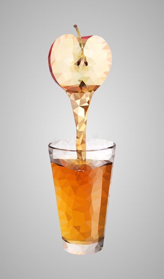 低多苹果汁 适用于商标、背景、网站、广告等等 库存例证