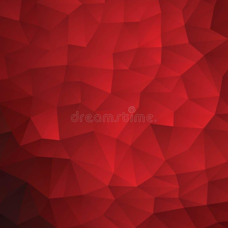 低多角形红色三角样式背景,传染媒介 10 eps 库存例证