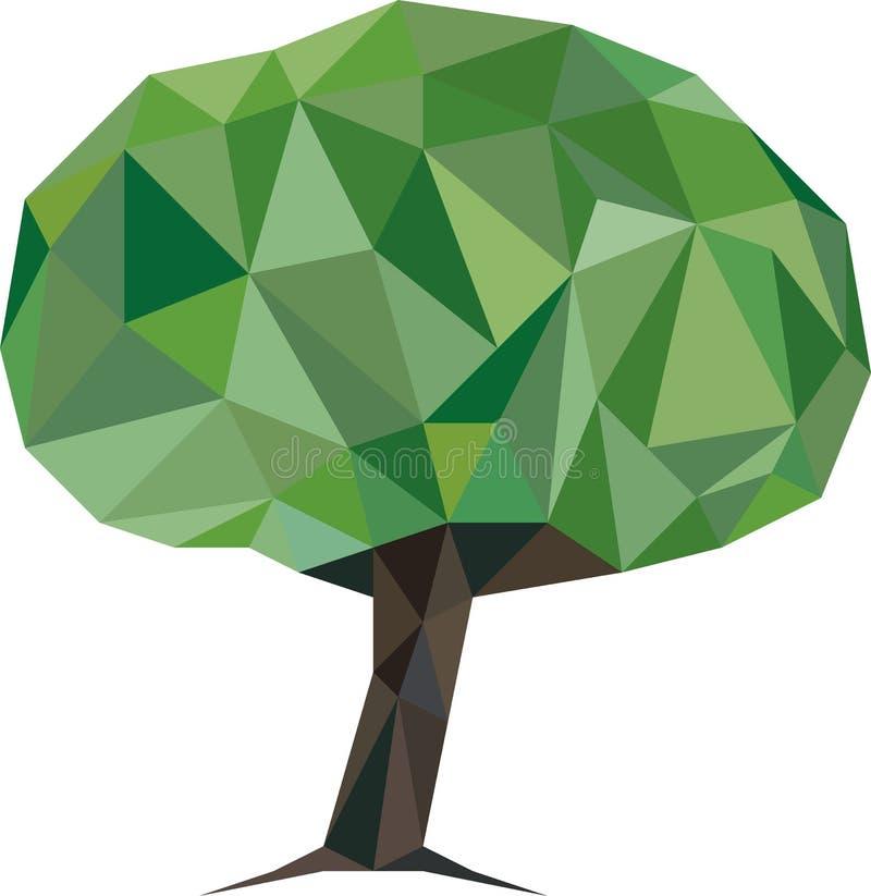 低多结构树 向量例证