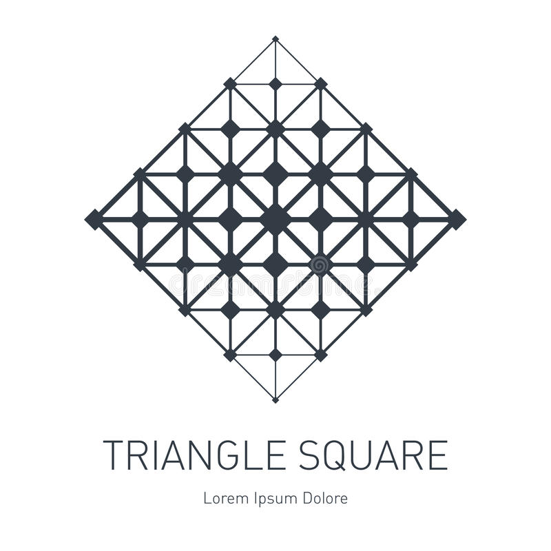 低多滤网 现代时髦的商标 与squa的设计元素 皇族释放例证