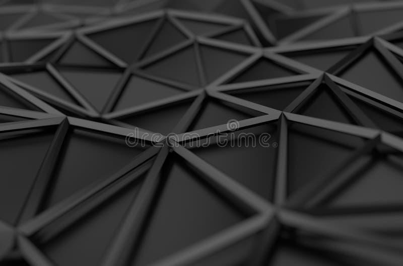 低多黑表面抽象3D翻译  向量例证
